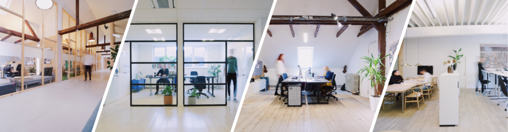 Different offices at Coworking Plus