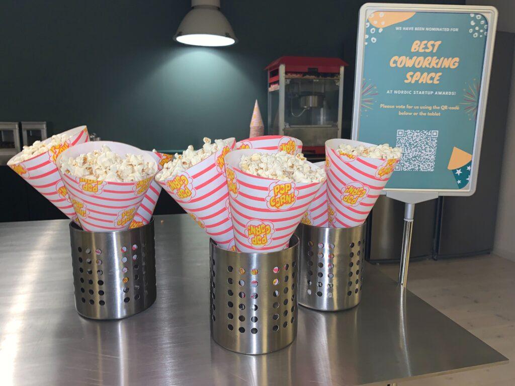 Best coworker space popcorn