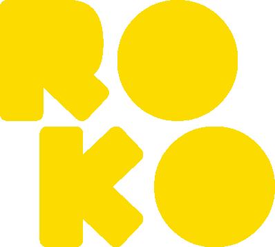 Roko logo yellow
