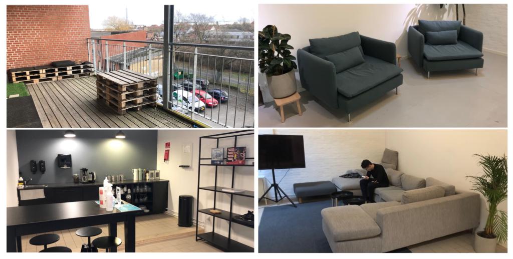 Rekreative områder hos Coworking Plus